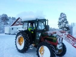 Déneigement avec le tracteur