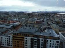 Vue d'en haut du Scandic Hotel