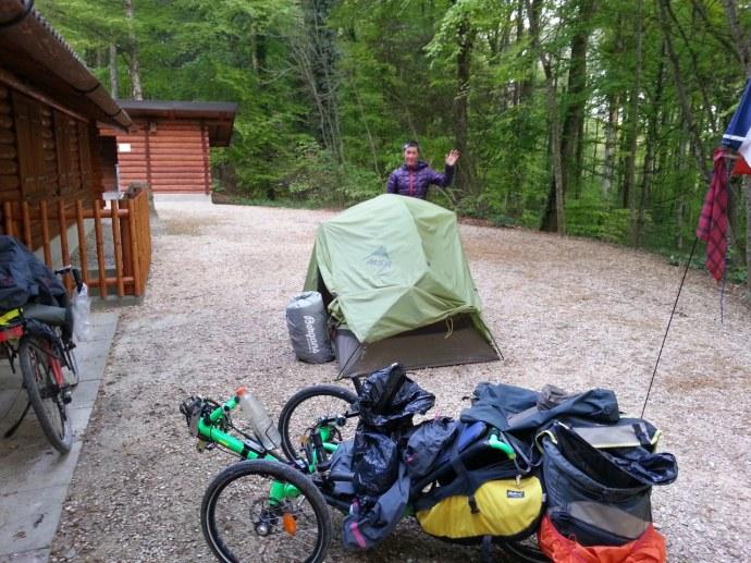 Dernier repliage de la tente